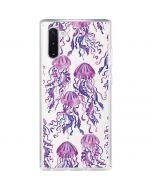 Jellyfish Galaxy Note 10 Clear Case
