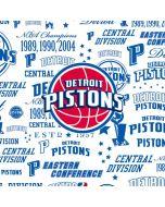 Detroit Pistons Historic Blast Apple iPod Skin