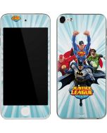 Justice League Team Power Up Blue Apple iPod Skin