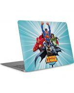 Justice League Team Power Up Blue Apple MacBook Air Skin