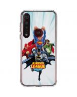 Justice League Team Power Up Blue Moto G8 Plus Clear Case