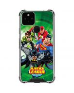 Justice League Team Power Up Green Google Pixel 5 Clear Case
