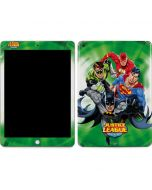 Justice League Team Power Up Green Apple iPad Skin