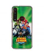 Justice League Team Power Up Green Moto G8 Plus Clear Case