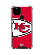 Kansas City Chiefs Large Logo Google Pixel 5 Clear Case