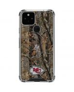 Kansas City Chiefs Realtree AP Camo Google Pixel 5 Clear Case