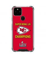 Kansas City Chiefs Super Bowl LIV Champions Google Pixel 5 Clear Case