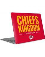 Kansas City Chiefs Team Motto Apple MacBook Air Skin