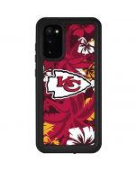 Kansas City Chiefs Tropical Print Galaxy S20 Waterproof Case