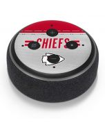 Kansas City Chiefs White Striped Amazon Echo Dot Skin