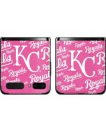 Kansas City Royals - Pink Cap Logo Blast Galaxy Z Flip Skin