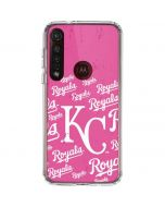 Kansas City Royals - Pink Cap Logo Blast Moto G8 Plus Clear Case
