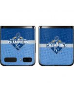 Kansas City Royals 2015 World Series Champions Galaxy Z Flip Skin