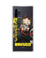 Katsuki Bakugo Galaxy Note 10 Plus Clear Case