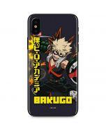 Katsuki Bakugo iPhone X Skin