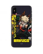 Katsuki Bakugo iPhone XS Skin
