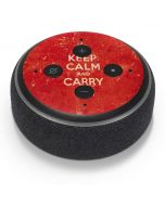 Keep Calm and Carry On Distressed Amazon Echo Dot Skin