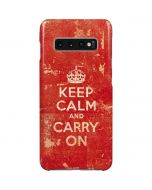 Keep Calm and Carry On Distressed Galaxy S10 Plus Lite Case