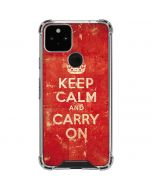 Keep Calm and Carry On Distressed Google Pixel 5 Clear Case