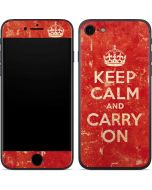 Keep Calm and Carry On Distressed iPhone 8 Skin