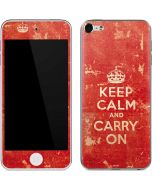 Keep Calm and Carry On Distressed Apple iPod Skin