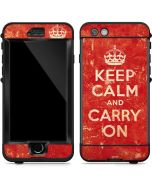 Keep Calm and Carry On Distressed LifeProof Nuud iPhone Skin