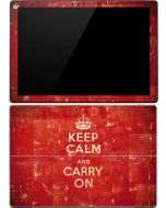 Keep Calm and Carry On Distressed Surface Pro (2017) Skin