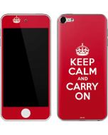 Keep Calm and Carry On Apple iPod Skin
