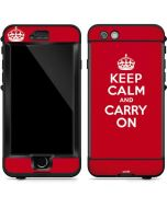 Keep Calm and Carry On LifeProof Nuud iPhone Skin