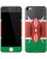 Kenya Flag Distressed Apple iPod Skin
