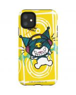 Kuromi Rocker Girl Yellow Stereos iPhone 11 Impact Case