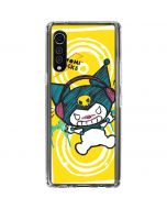 Kuromi Rocker Girl Yellow Stereos LG Velvet Clear Case