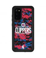 LA Clippers Digi Camo Galaxy S20 Waterproof Case