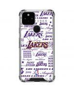 LA Lakers Historic Blast Google Pixel 5 Clear Case
