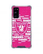 Las Vegas Raiders Pink Blast Galaxy S20 FE Clear Case