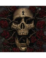 Skull Entwined with Roses Xbox One Console Skin