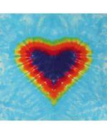 Tie Dye Heart Apple iPod Skin
