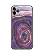 Lilac Watercolor Geode iPhone 11 Pro Max Skin