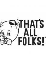 Porky Thats All Folks Grid iPhone 6/6s Folio Case