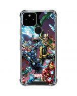 Loki Fighting Avengers Google Pixel 5 Clear Case