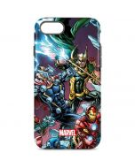 Loki Fighting Avengers iPhone 8 Pro Case