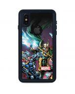 Loki Fighting Avengers iPhone X Waterproof Case