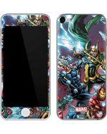 Loki Fighting Avengers Apple iPod Skin