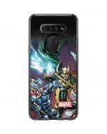 Loki Fighting Avengers LG K51/Q51 Clear Case