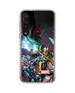 Loki Fighting Avengers Moto G8 Plus Clear Case