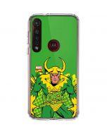 Loki Master of Mischief Moto G8 Plus Clear Case