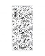 Looney Squad Black and White Grid Galaxy Note 10 Skin