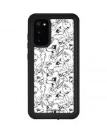 Looney Squad Black and White Grid Galaxy S20 Waterproof Case