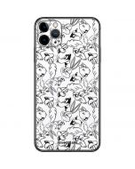 Looney Squad Black and White Grid iPhone 11 Pro Max Skin