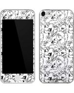 Looney Squad Black and White Grid Apple iPod Skin